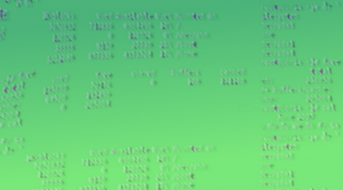 stylised computer terminal